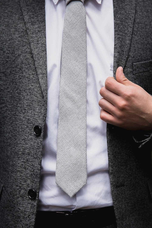 Dances Groom Cotton Wool Linen Necktie DAZI Mens Skinny Tie Gifts. Groomsmen Great for Weddings Missions