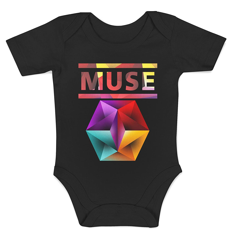 LaMAGLIERIA Body Beb/è Muse Text Logo Body Rock 100/% Algodon