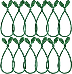 Shappy Christmas Garland Ties Christmas Decorative Twist Ties Reusable and Flexible Twist Ties for Garland, Banisters and Home Decoration (Green, 12)