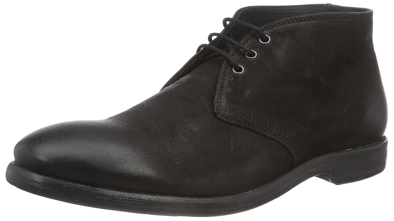 MENTOR Mentor Herren Desert Boots Schwarz (Black Washed Leather)