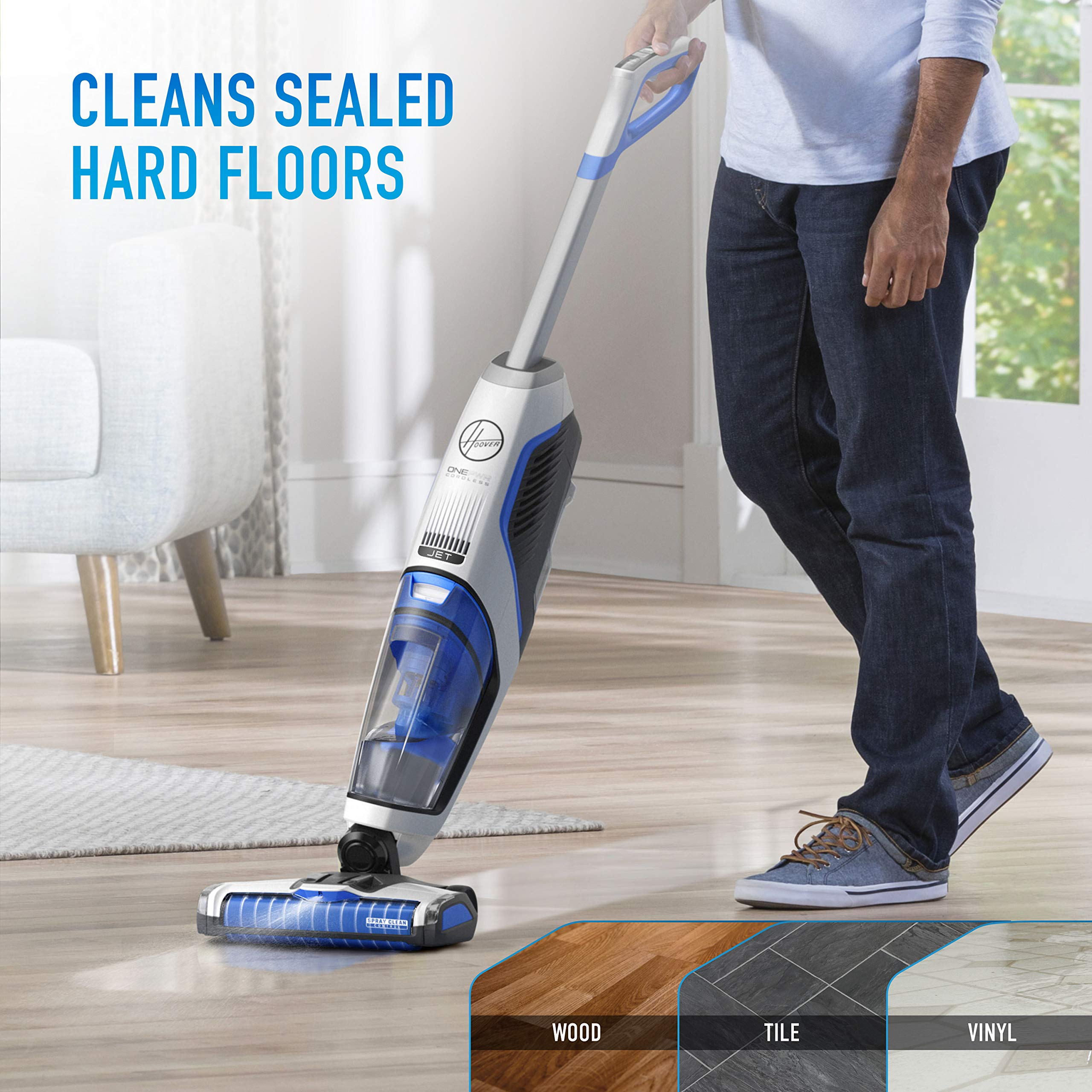 Hoover ONEPWR Cordless FloorMate Jet Hard Floor Cleaner, Wet Vacuum, BH55210, White by Hoover (Image #3)
