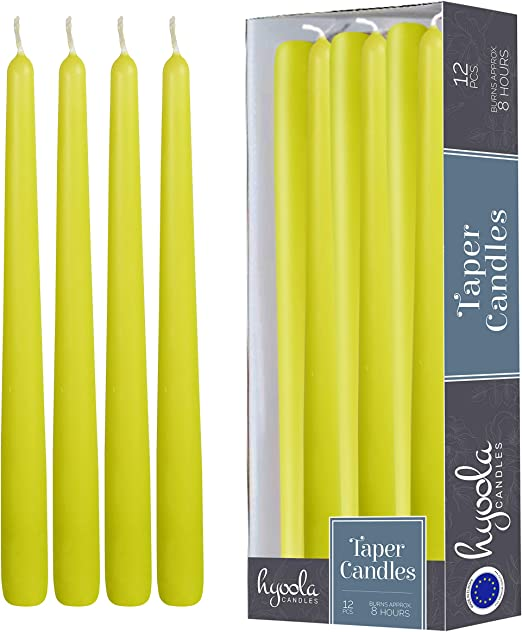 10 White Taper Candles Unscented 1 Box of 12 Candles