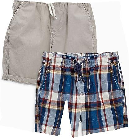 next Niños Pack De Dos Pantalones Cortos A Cuadros Y Lisos (3-16 Años) Rust/Navy 16 años: Amazon.es: Ropa y accesorios