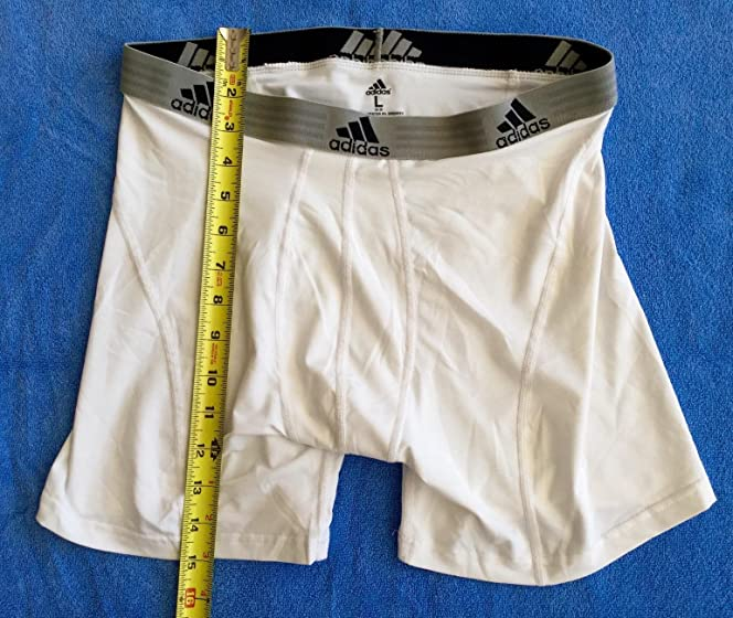 adidas Men's Sport Performance Climalite Boxer Brief Underwear (2 Pack) Doesn't Bunch Or Ride Up; Waistband Doesn't Dig Into Waist