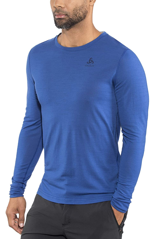Odlo Merino Warm Shirt - Sodalite Blau Grau Melange