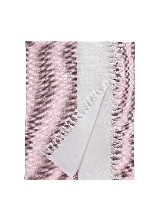Pure Fiber ARFLXT05 Lapis Fouta Bath Towel, Red Nine Space