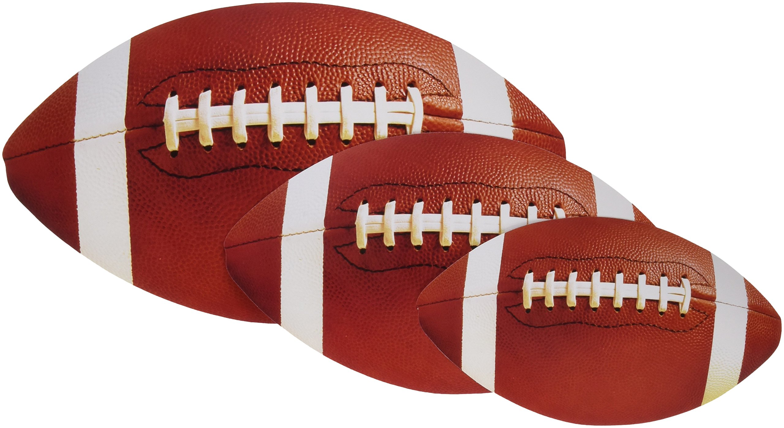 amscan Football Value Pack Assorted Cutouts, Party Decoration, 144 Ct.