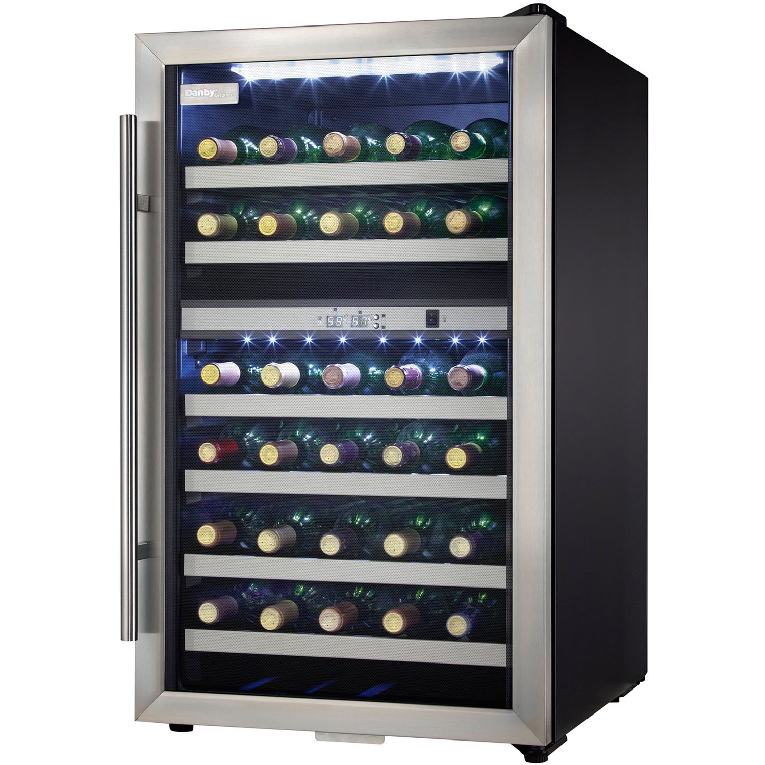danby dwcblsdd designer dual zone wine cooler stainless steel  - danby dwcblsdd designer dual zone wine cooler stainless steelamazonca home  kitchen