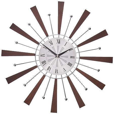 Telechron Spindle Clock, Espresso Silver