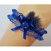 Liguero liga novia boda puntilla azul regalo novia