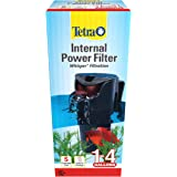 Tetra Whisper Internal Filter 3 to 10 Gallons, for Aquariums, in-Tank Filtration with Air Pump, Blacks & Grays (25816)