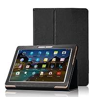 """XIDO Funda para BEISTA K107 Tablet de 10.1 Pulgadas / YUNTAB K107 K17 Tablet 10.1 - Slim Fit Folio Funda Cubierta Carcasa Caso Case con Stand Función para SANNUO Tablet de 10.1"""" / LNMBBS 3G Tablet de 10.1 Pulgadas / Tagital Tableta / ibowin® P130 / M130 10.1 inch, Lnmbbs 3G/WIFI Tablet 10, XIDO Z120, Excelvan K107 10.1 Inch, Sky Castle 10.1, Negro"""