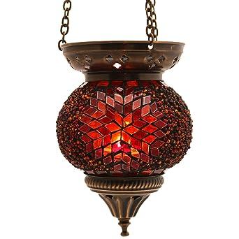 Mosaik Lampe Hangelampe Windlicht Pendelleuchte Aussenleuchte