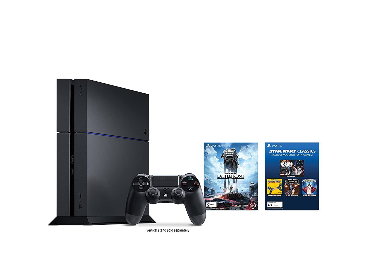 sony ps4 console. amazon.com: playstation 4 500gb console - star wars battlefront bundle: video games sony ps4