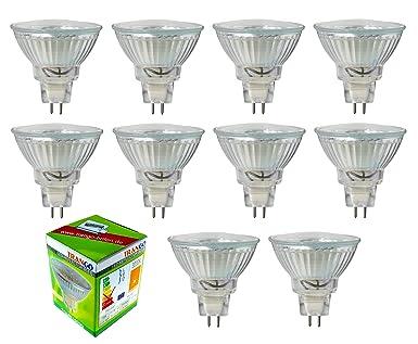 10 X Dimmable 3 Watts Led Bulb 12v Ac Dc Warmwhite Tgmr16030