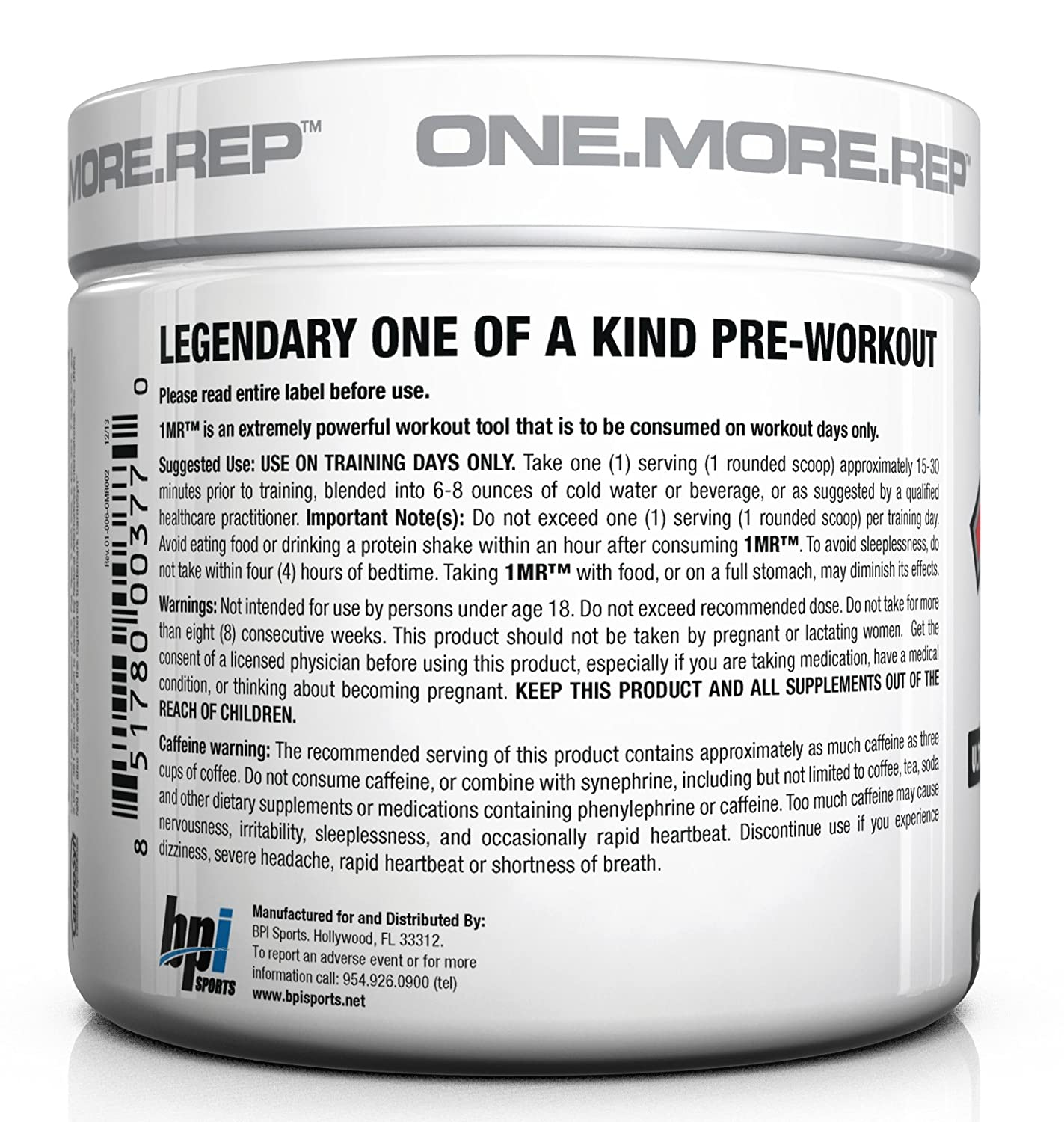 Amazon: Bpi Sports 1mr Ultra Concentrated Preworkout Powder, Blue  Raspberry, 49ounce: Health & Personal Care