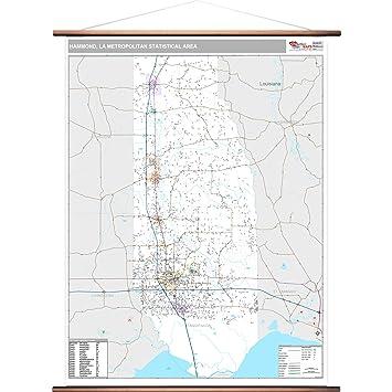 La Metro Map 2018.Amazon Com Marketmaps Hammond La Metro Area Wall Map 2018 Zip