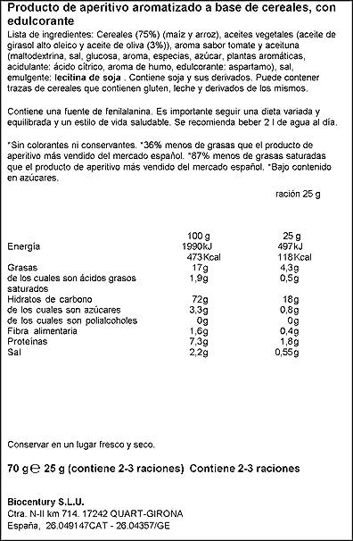 Bicentury Mini Tortitas Producto de Aperitivo con Sabor ...