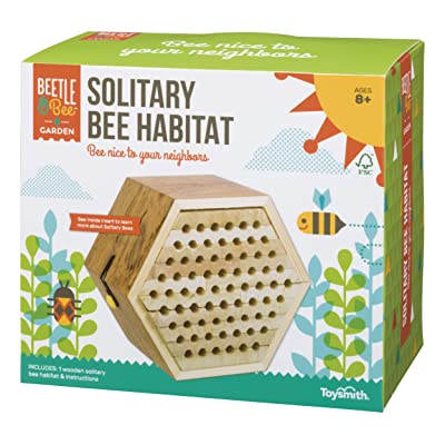 Toysmith Beetle & Bee Solitary Bee Habitat: Toys & Games
