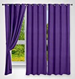 Story@Home Eyelet Polyester Window Curtain - 5 ft, Purple