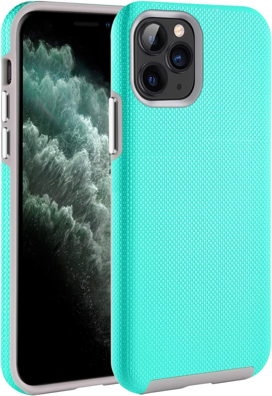BENTOBEN Case for iPhone 11 Pro Max, Slim 2 in 1 Hybrid Soft TPU Bumper Hard PC Cover Shockproof Anti-Scratch Rugged Impact Resistant Protective Phone Cover for iPhone 11 Pro Max 6.5'', Mint Green