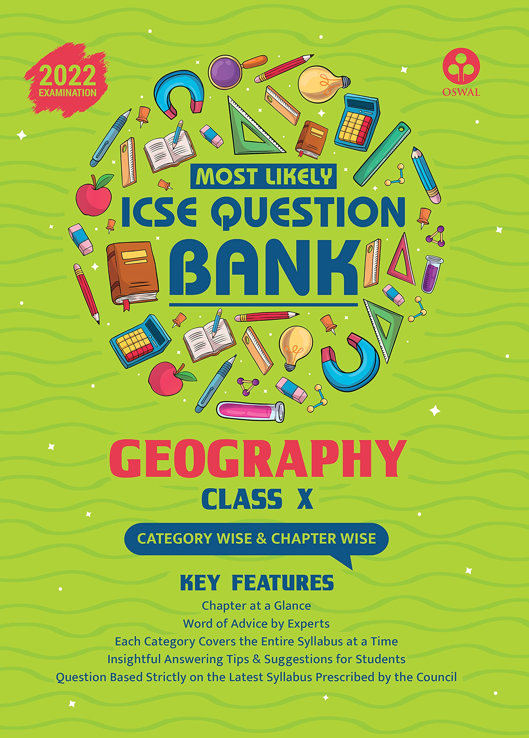 Most Likely Question Bank for Geography: ICSE Class 10 for 2022 Examination Paperback – 15 April 2021