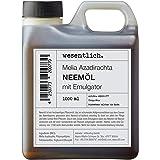Neemolie met emulgator 1000 ml - klaar gemengd voor onmiddellijk gebruik van essentiële.
