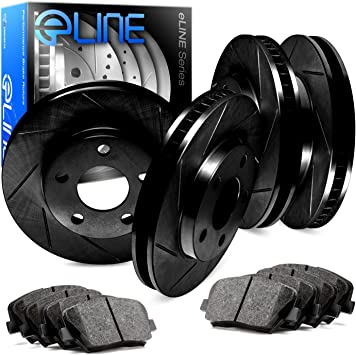 Ceramic Brake Pads Fit 2015-2017 Ford F-150 Rear PowerSport Blank Brake Rotors