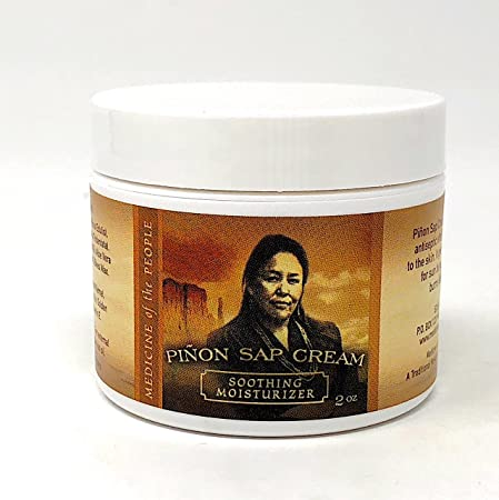 Navajo Medicine of the People Pinon Sap Cream – Sunburn, Burns including radiation burns , Minor Cuts, Scrapes and Rough-Dry Hands Feet 2 OZ, Outstanding Product