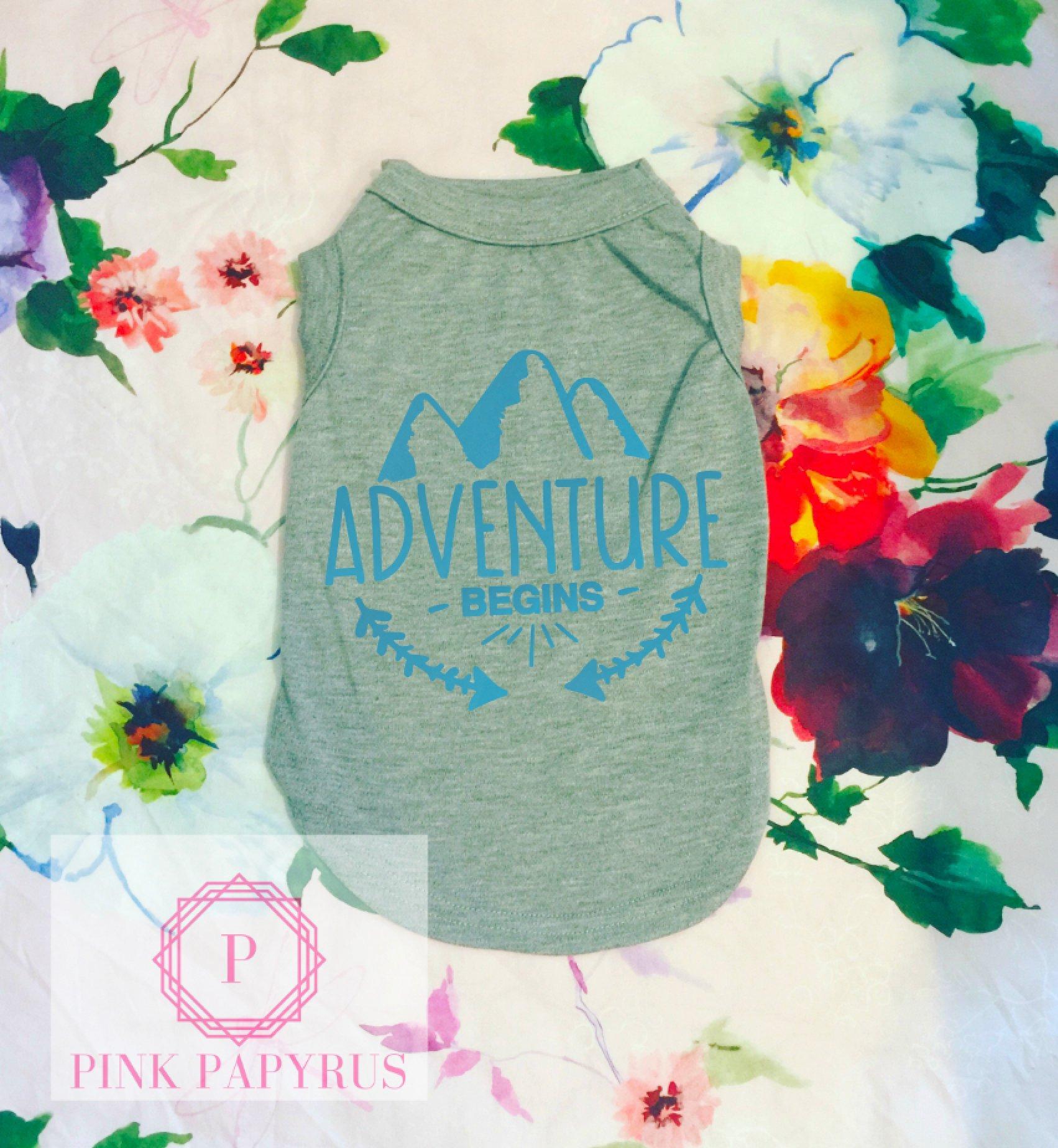Adventure Begins Dog Shirt