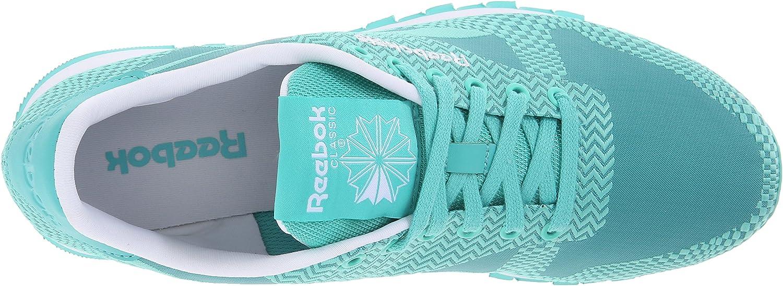 Reebok Women's Classic Runner Summer Brights Classic Shoe Emerald Sea/Emerald Haze/White