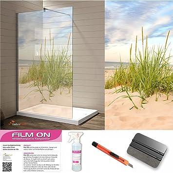 Glasdekor Dusche Sichtschutz Und Trennwände Druck Auf