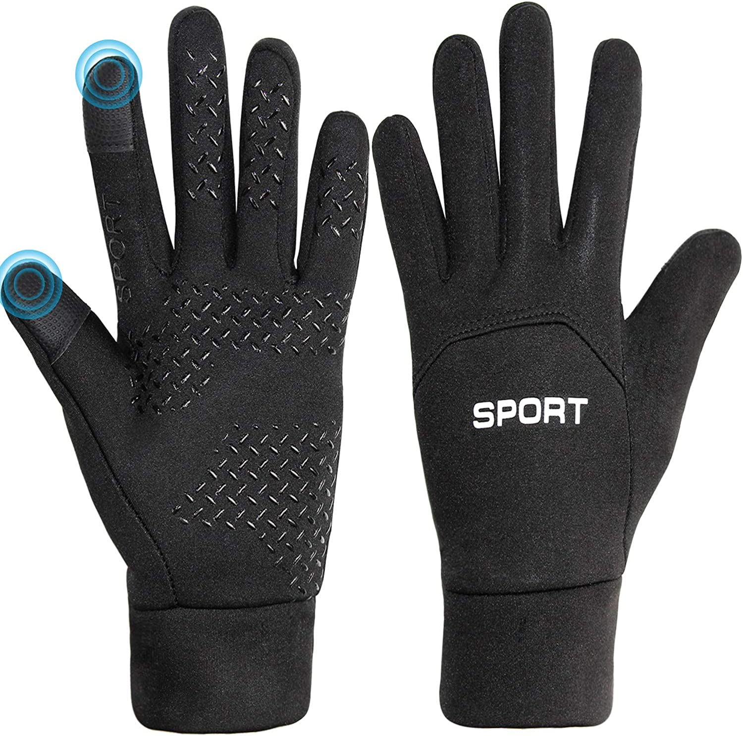 Touchscreen Cycling Gloves For Men Women Warm Lightweight Running Gloves Cold Weather