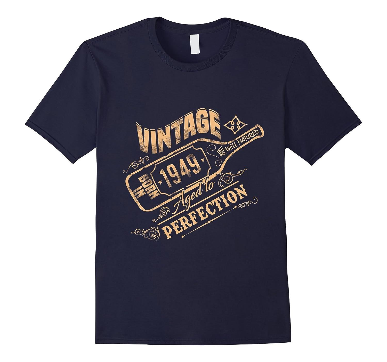 Born in 1949 T-Shirt - Hot Trend Vintage Wine Bottle Design-CL