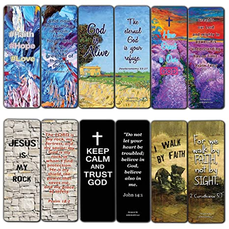 Favorite Bible Verses Bookmarks Cards 60 Pack Reassuring Us With God S Message Of Love And Hope Prayer Cards Religious Christian Gift To