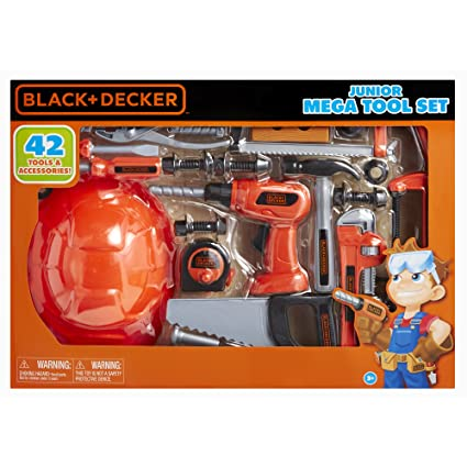Toys & Hobbies Black and Decker Jr Mega Tool Set Complete 42 Tools Kids Fun Game Toy Play Boy