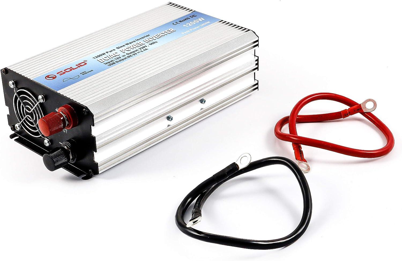 Hochwertiger Sinus Wechselrichter 12 Volt Dc Auf 230 Volt Ac Echte Sinuswelle Nennleistung 1 200 Watt Mit Usb Anschluss Und Steckdose Spannungswandler Camping Kfz Inverter Esotec 140052 Baumarkt