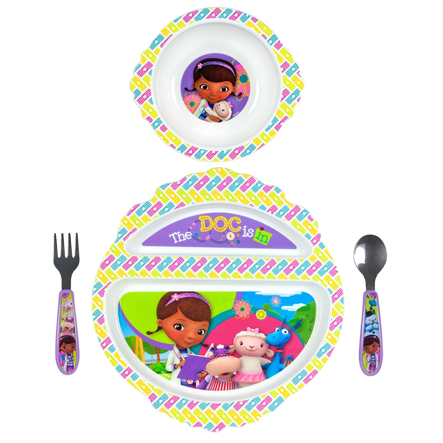 The First Years Disney Feeding Set, Doc Mc Stuffins, 4 Piece TOMY Y10254