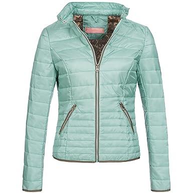 AZ Damen Jacke Steppjacke Übergangsjacke gesteppt super leicht 1766 S-XXL  3Farben , Größe S - 36 Farbe Hellgrün  Amazon.de  Bekleidung 56368b6123