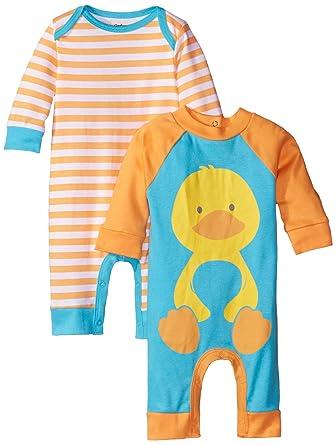 Gerber Unisex-Baby Newborn 2 Pack Coverall, Duck, Newborn