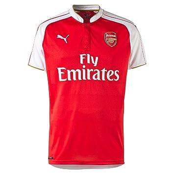 Puma Arsenal FC Men's Football Home Shirt Replica with Sponsor Logo Red  High Risk Red/
