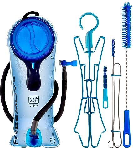 FREEMOVE 2 Liter Hydration Bladder & Cleaning Kit or 3L Water Bladder or  Cleaning Tabs 24 Pack | Leak Proof Bladder, Large Opening, Tasteless & BPA