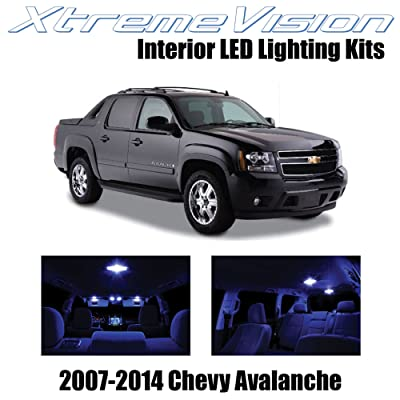 Xtremevision Interior LED for Chevy Avalanche 2007-2014 (14 Pieces) Blue Interior LED Kit + Installation Tool: Automotive