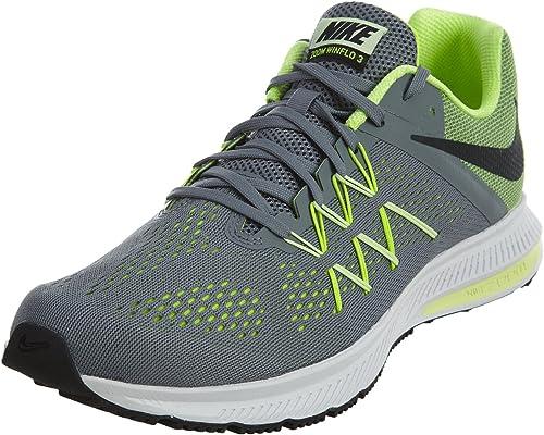 Nike Zoom Winflo 3, Zapatos para Correr para Hombre, Multicolor (Cool Grey/Black-Volt-Barely Volt), 44.5 EU: Amazon.es: Zapatos y complementos
