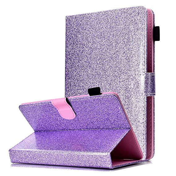 best authentic 44b20 6c9fd Amazon.com: Universal 9-10 inch Tablet Case, ANGELLA-M Bling Glitter ...