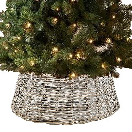 URBNLIVING - Falda para árbol de Navidad (Mimbre de bambú, tamaño ...