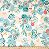 Art Gallery Jersey Knit Chalk & Paint Sprayed Blooms Subtle Fabric By The Yard
