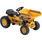 Dexton Pedal Tractor with Dumper, Yellow