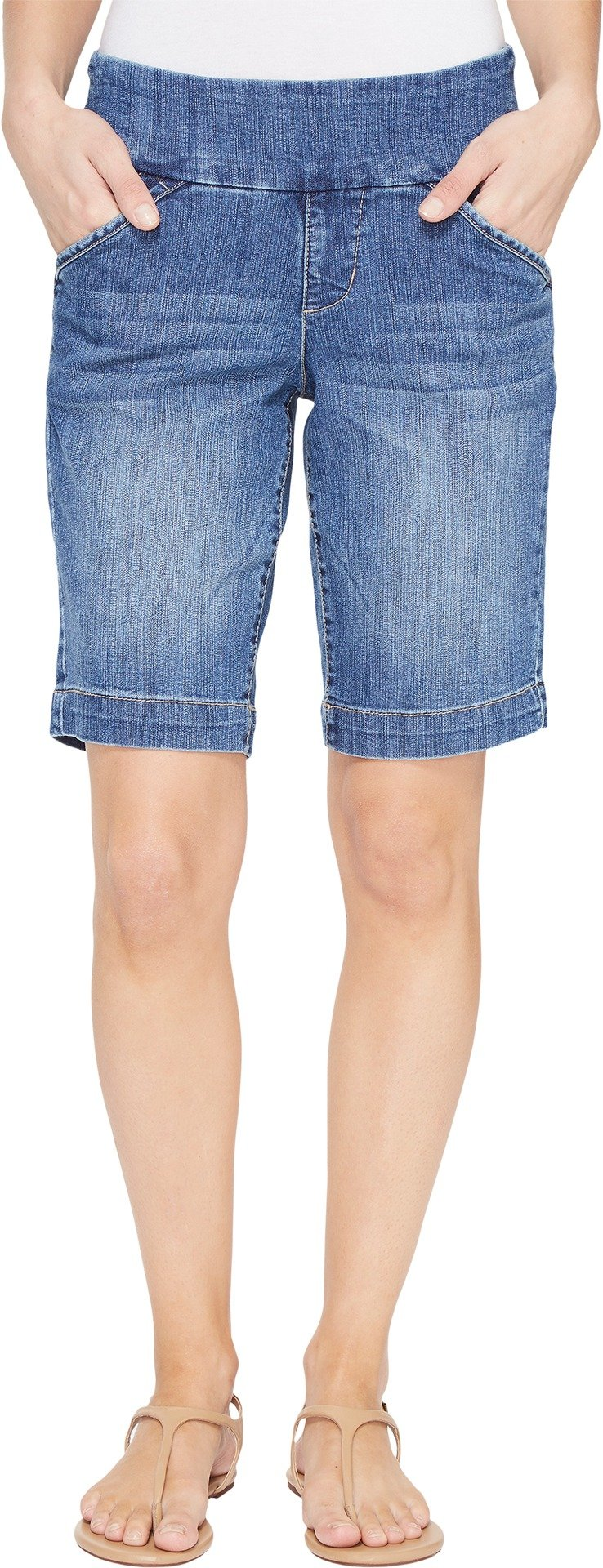 Jag Jeans Women's Ainsley Pull on Bermuda Short, Weathered Blue, 0