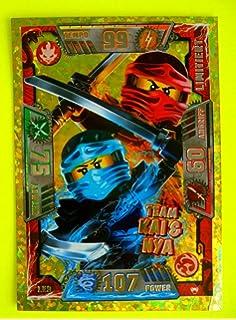 LE 9 Team Kai /& Nya Goldkarte Lego Ninjago Trading Card Game Serie 2